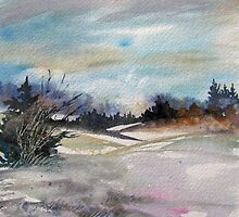 Winter Landscape by bevmorgan
