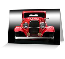 1932 Ford Sedan 'Head On' Greeting Card