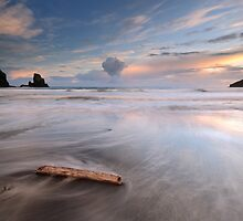 Talisker bay Sunset by Grant Glendinning