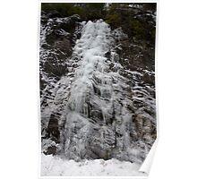 Winter Runoff Series:  Frozen Cliffs I Poster