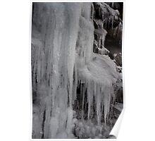 Winter Runoff Series:  Frozen Cliffs III Poster