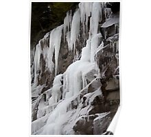 Winter Runoff Series:  Frozen Cliffs IV Poster