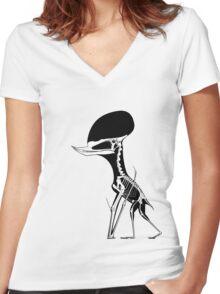 Shell Cracker Women's Fitted V-Neck T-Shirt