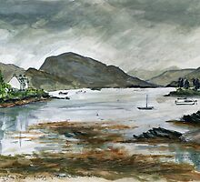 Rainy day in Plockton by Vicky Stonebridge