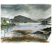 Rainy day in Plockton Poster