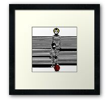 Mom Boy Ball Framed Print