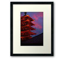 Asakusa Kanon temple, Tokyo Framed Print