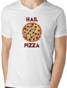 Hail Pizza Mens V-Neck T-Shirt
