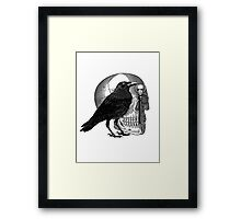 Raven Skull & Skeleton Key Framed Print