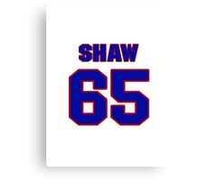 National Hockey player Andrew Shaw jersey 65 Canvas Print