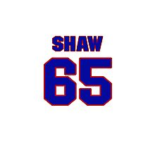 National Hockey player Andrew Shaw jersey 65 Photographic Print