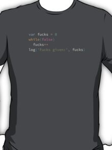 Fucks given calculator script T-Shirt