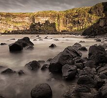 Dunluce Castle Shadow by Nigel R Bell