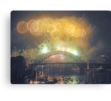 The Emerald City - New Years Eve  , Sydney Harbour    Canvas Print