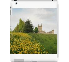 Wildflower meadows lead to Downton abbey iPad Case/Skin