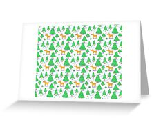 Deer in The Winter Forest Greeting Card