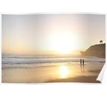 New Years Dawn - Warriewood Beach, Sydney Australia Poster