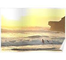 Morning Dip Greets a New Dawn - Warriewood Beach, Sydney NSW Australia Poster