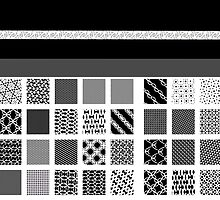 GEOMETRIC DESIGNS, GIFTS and DECOR, black and white,  by ackelly4