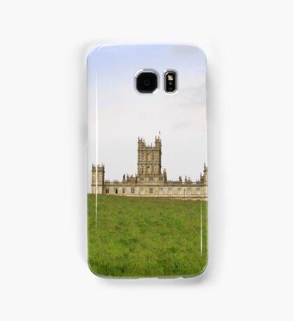 Green rolling hills towards Downton abbey Samsung Galaxy Case/Skin