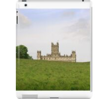 Green rolling hills towards Downton abbey iPad Case/Skin