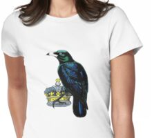 Crow Stealing King's Crown Womens Fitted T-Shirt