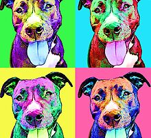 Pit Bull Pop Art by justthatlawson