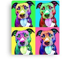 Pit Bull Pop Art Canvas Print