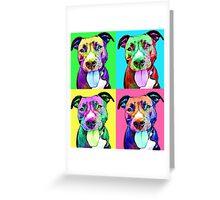 Pit Bull Pop Art Greeting Card