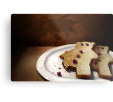 Gingerbear Cookies Metal Print