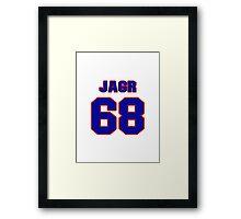 National Hockey player Jaromir Jagr jersey 68 Framed Print