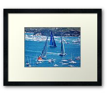 Sydney Hobart - Race Towards the Heads Framed Print