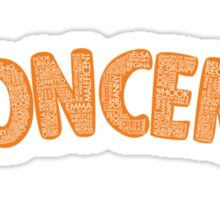 Once Upon a Time - Oncer 2015 - Orange Sticker