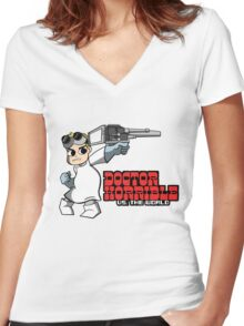 Dr. Horrible vs. The World Women's Fitted V-Neck T-Shirt