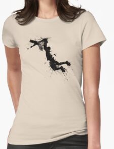 Basketball player dunk inked Womens Fitted T-Shirt