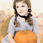 Girl with Pumpkin by Christine Wilson