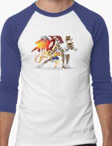 Shaq Fu (Genesis) Title Screen Men's Baseball ¾ T-Shirt