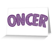 Once Upon a Time - Oncer 2015 - Purple Greeting Card