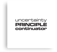 Uncertainty Principle Continuator Canvas Print