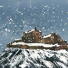 Snow On Edinburgh Castle by Ross Macintyre