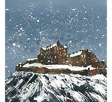 Snow On Edinburgh Castle Photographic Print