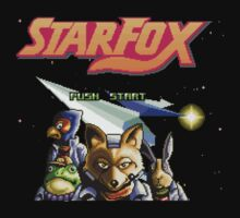Star Fox (SNES) Title Screen by AvalancheShirts