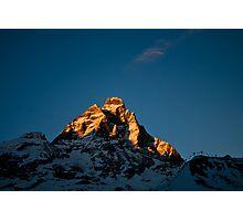 Sun setting on The Matterhorn Photographic Print