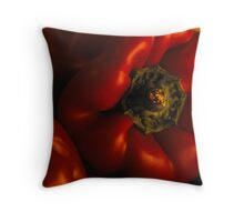 Red capsicum Throw Pillow