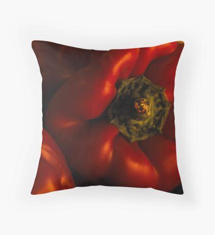 Red capsicum Throw Pillow