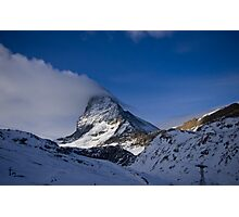 Clouds on the Matterhorn. Photographic Print