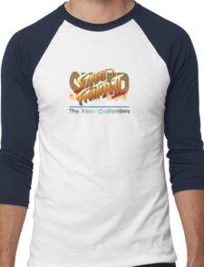 Street Fighter II (Snes) title Screen Men's Baseball ¾ T-Shirt