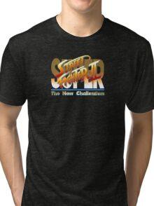Street Fighter II (Snes) title Screen Tri-blend T-Shirt