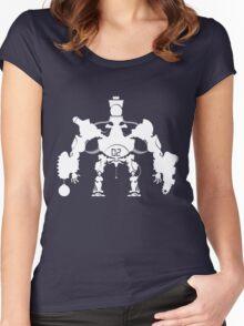 Killbot 02 - Porcelain King Women's Fitted Scoop T-Shirt