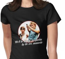 Thelma And Louise Margaritas by the sea Womens Fitted T-Shirt